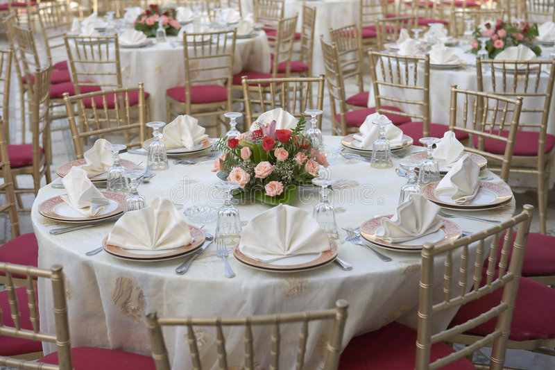 Wedding table. Set for dinning royalty free stock photography
