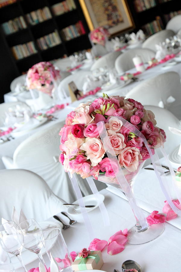 Wedding table. Set for dining stock image