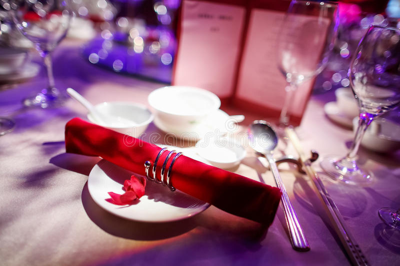 Wedding table. Set for dining royalty free stock images