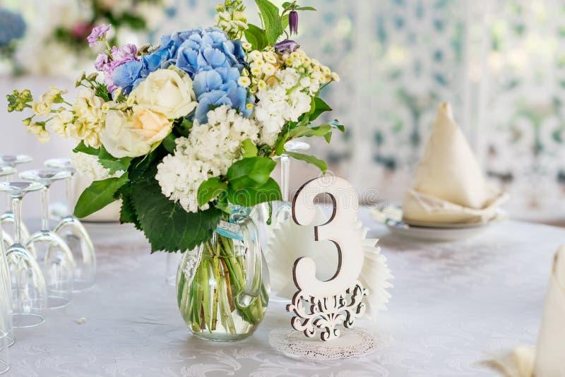 Wedding table decor royalty free stock photo