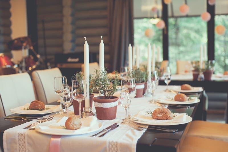 Celebration table decorations royalty free stock image