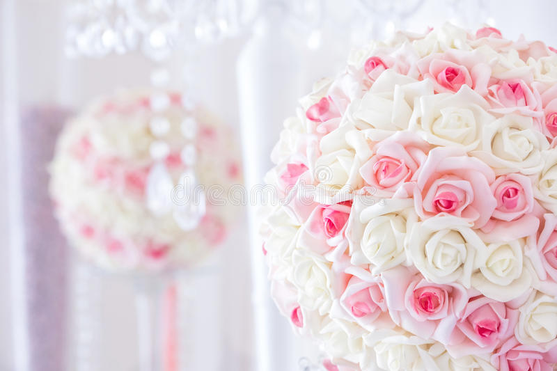 Wedding table decoration and floral centerpiece. Detail decor for a party or wedding reception stock photos
