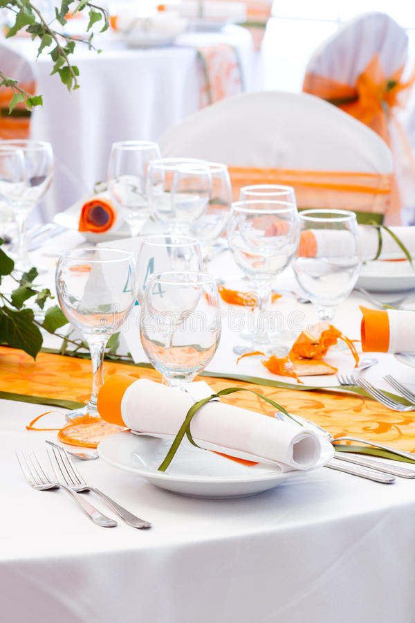 Wedding Table Detail Royalty Free Stock Images