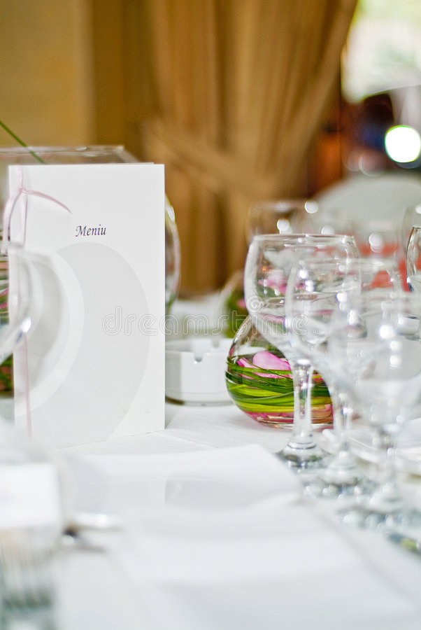Wedding table detail stock images