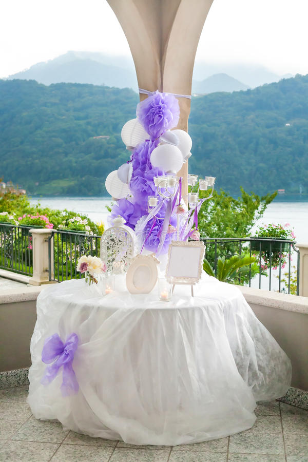 Wedding table number stock image
