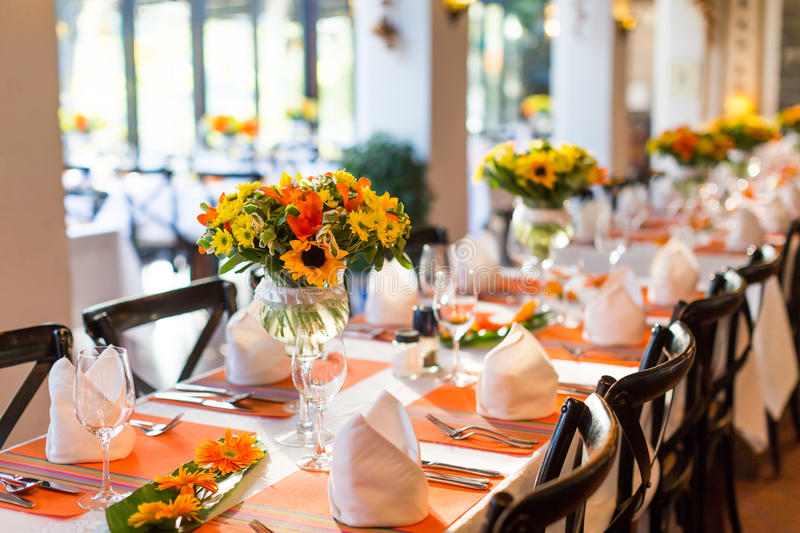 Wedding table. Set for dining royalty free stock photo