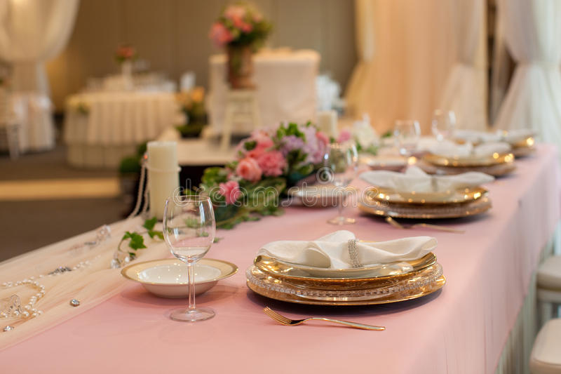 Download Wedding Table Setting Asian Banquet Decoration Stock Photo