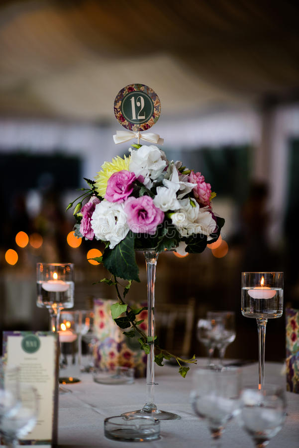 Wedding table setting stock images