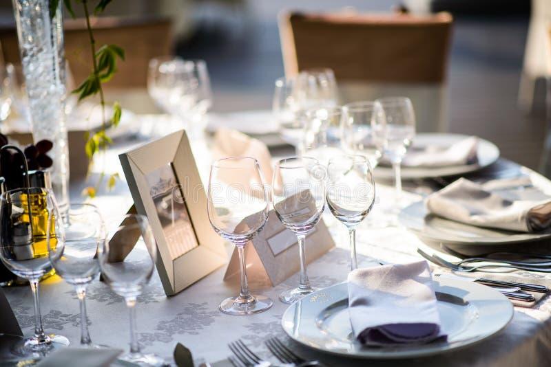 Wedding table setting royalty free stock photos
