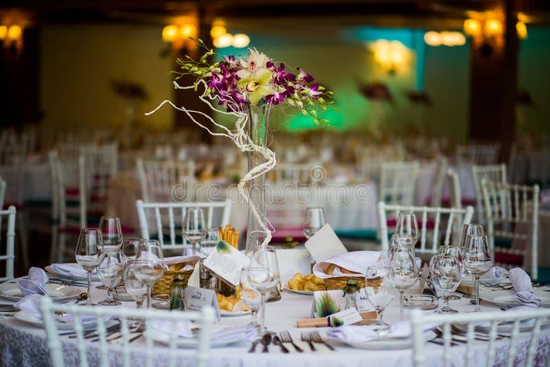 Wedding table setting royalty free stock image
