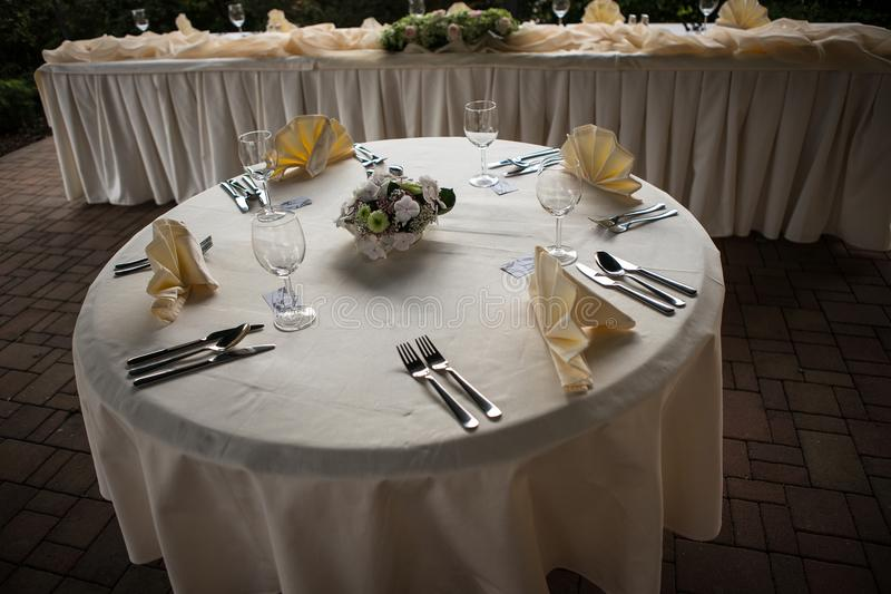 Download Wedding table setting stock photo. Image of arrangement - 31810504