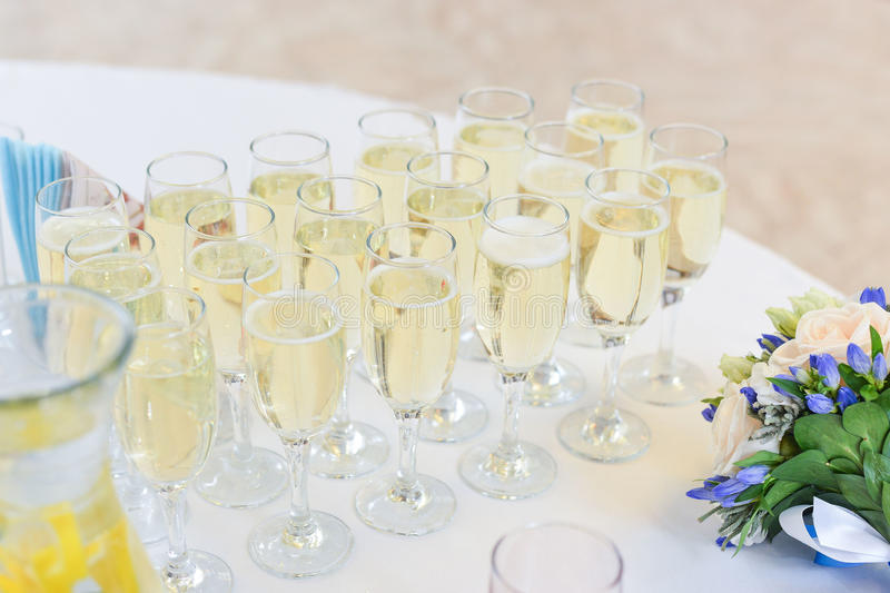 Wedding Table Setting In Restaurant Stock Image - Image of buffet ...