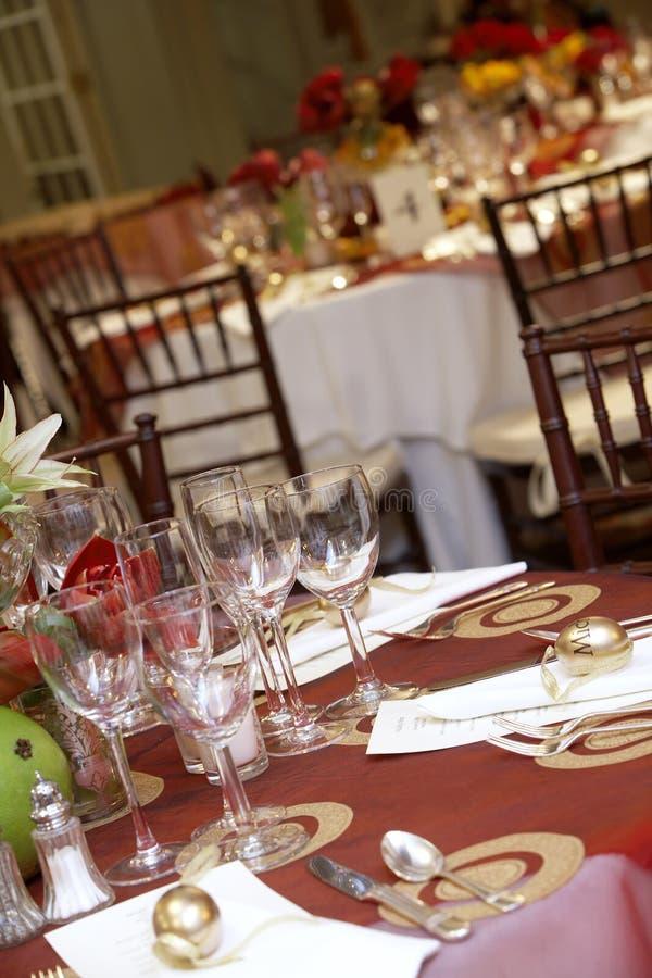 Wedding tables royalty free stock photos