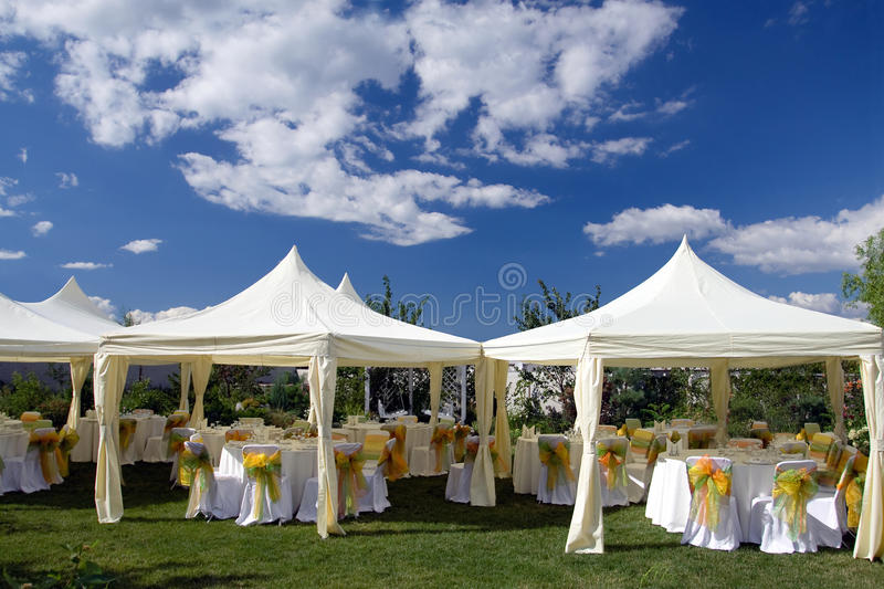 Wedding tent royalty free stock image