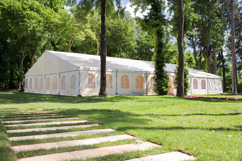 Download Wedding tent stock image. Image of festivity, plants - 37768641