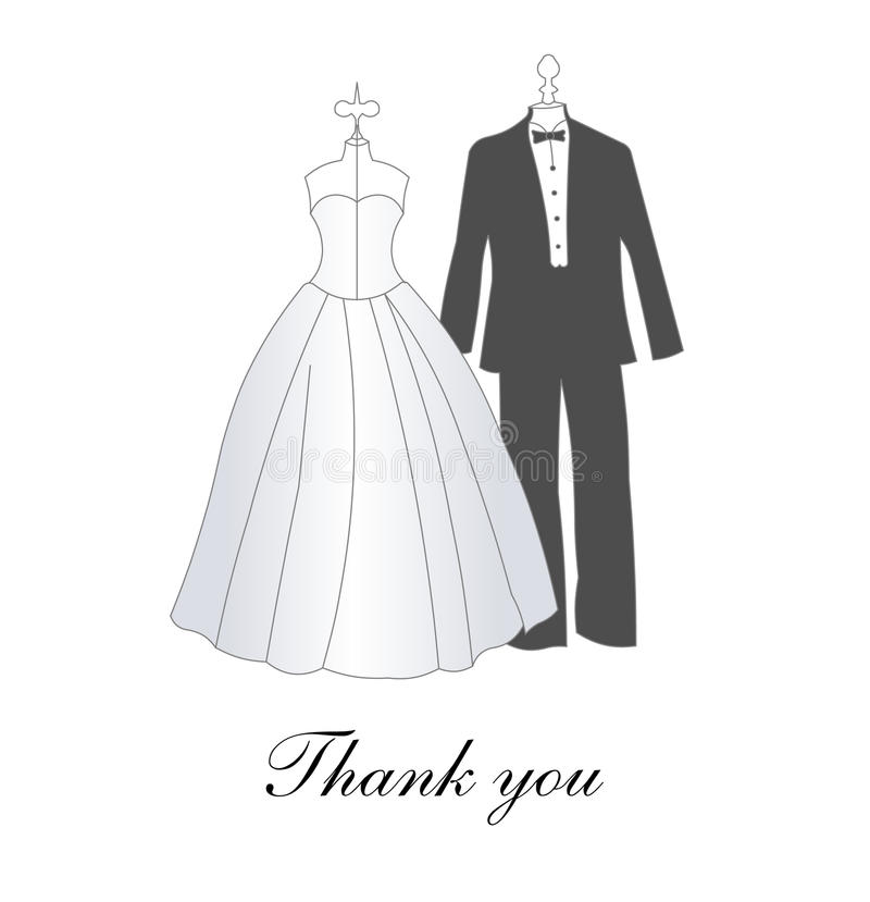 Download Wedding Thank you card stock vector. Image of flowers - 12614431