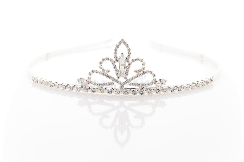 Wedding tiara with crystals royalty free stock images