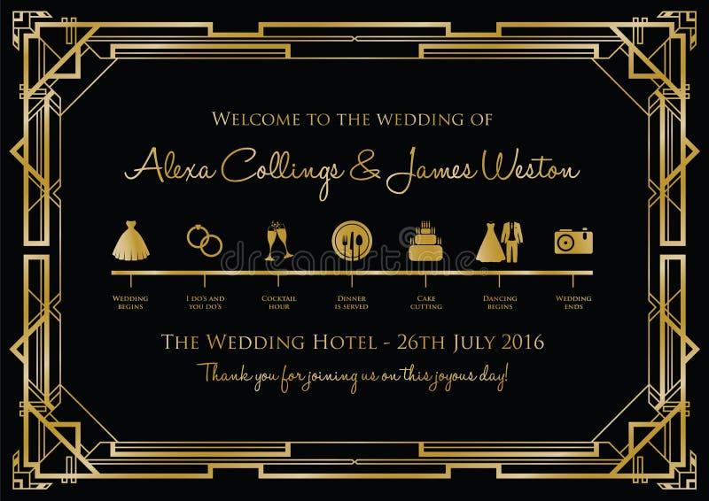 Wedding timeline background stock illustration