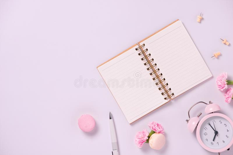 Wedding to do list with flowers. Mockup planner flat lay. stock photography