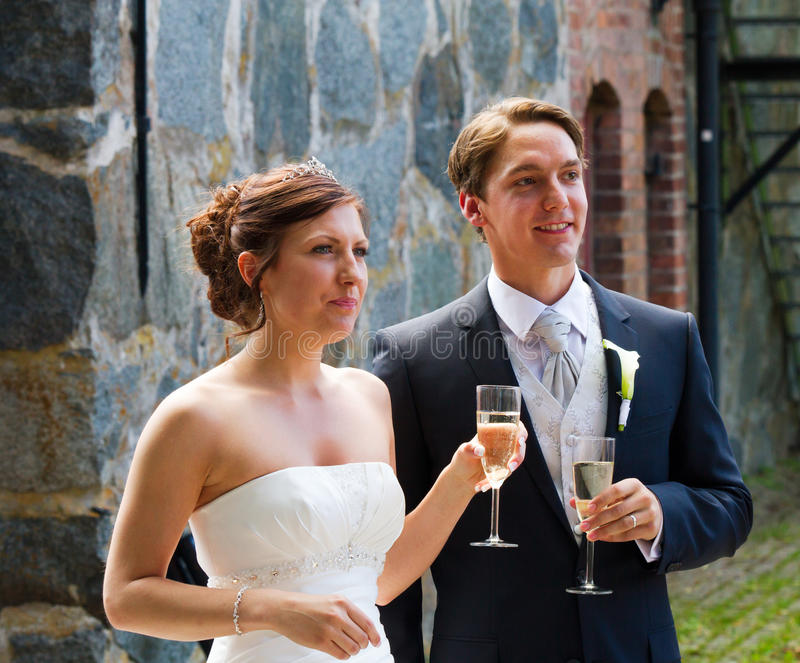 Wedding toast stock photos