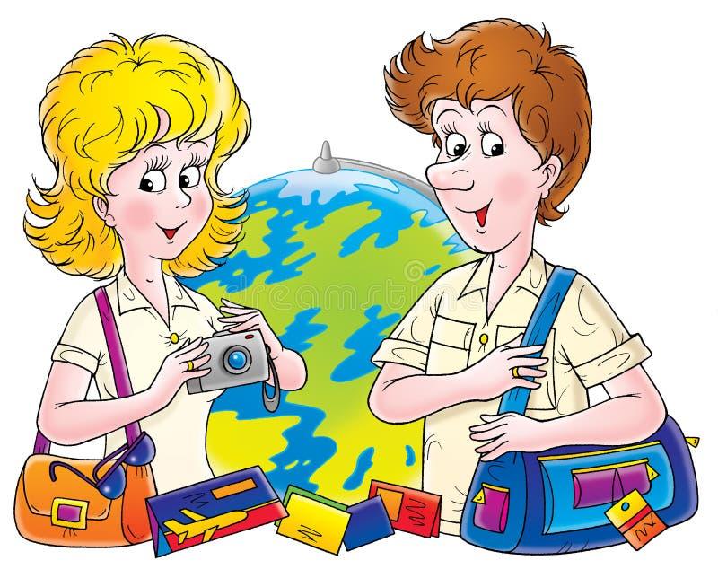 Download Wedding travel 001 stock illustration. Illustration of comics - 243812