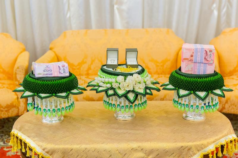 Wedding Treasure in Thai royalty free stock image