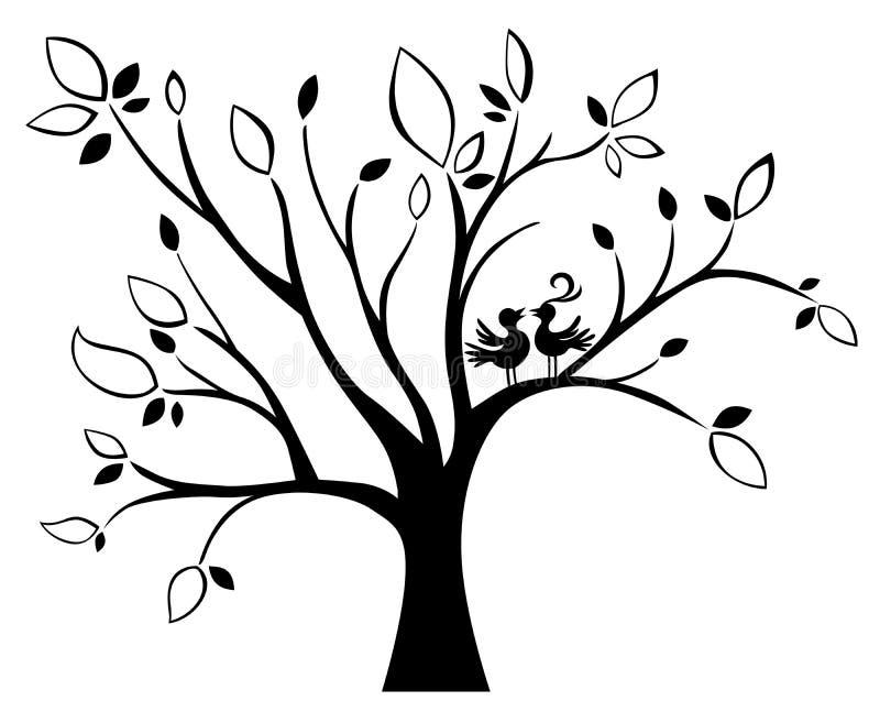 Wedding tree stock illustration