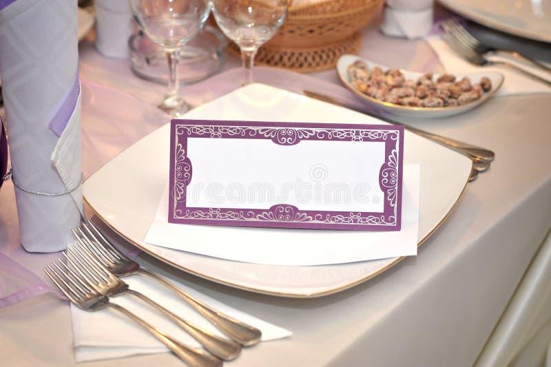 Wedding unbelegte Karte stockfoto