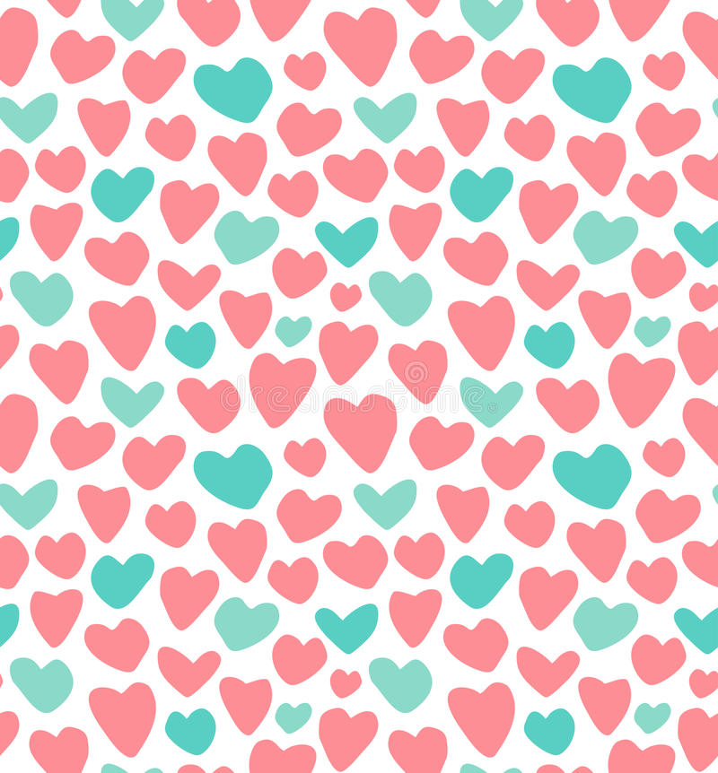Wedding, Valentin`s day seamless pattern. Vector illustration. I love you. Endless background. Wrapping paper pattern royalty free illustration