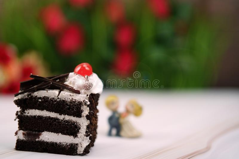 wedding and valentine cake royalty free stock images