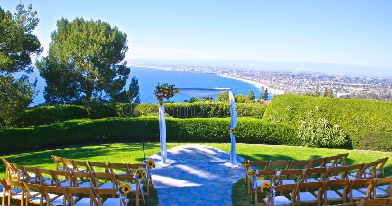 Wedding venue outdoor. Beautiful outdoor wedding venue in Palas Verdes California stock images