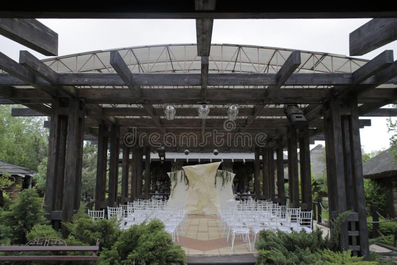 Wedding venue, venue for the wedding ceremony stock photography
