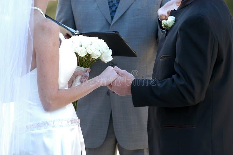Wedding Vows royalty free stock image