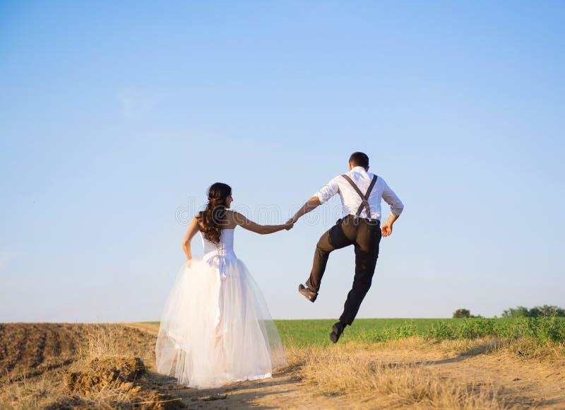 Wedding walk royalty free stock photos