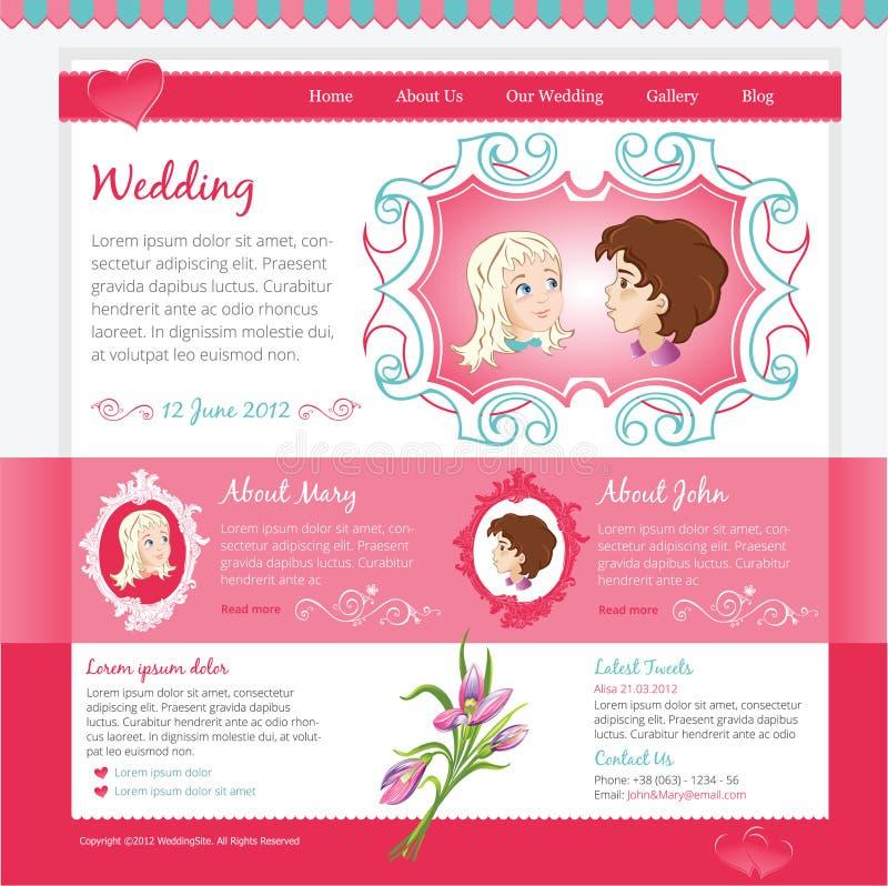 Wedding Website template stock illustration