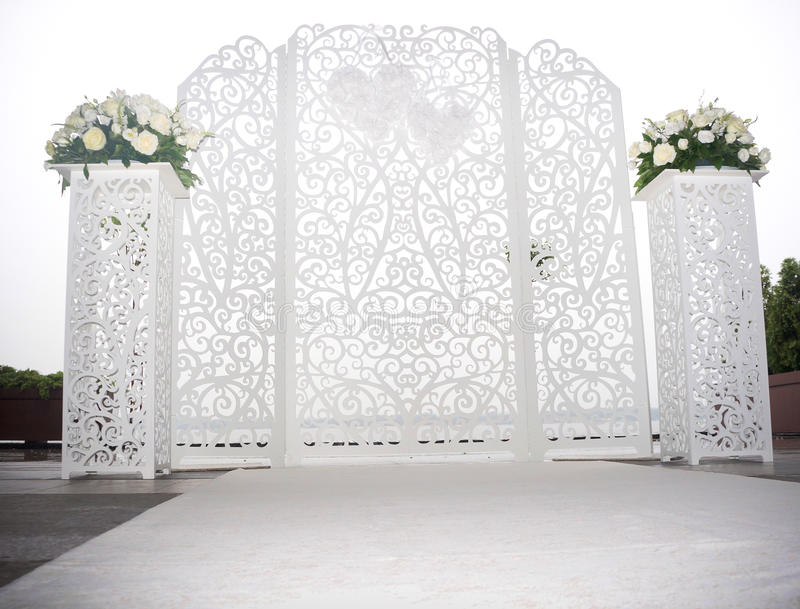 Wedding white altar royalty free stock images