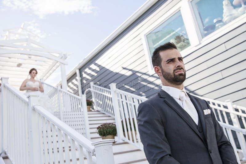 Wedding zuerst Blick lizenzfreie stockfotografie