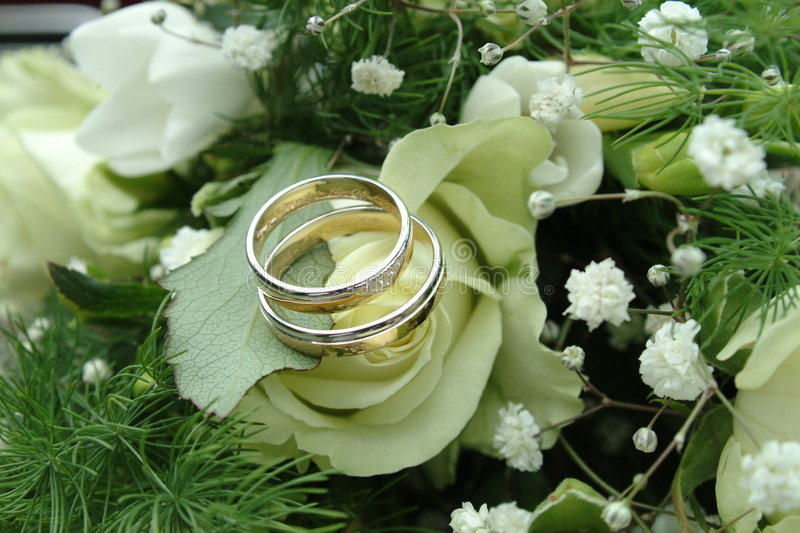 Weddingrings imagem de stock
