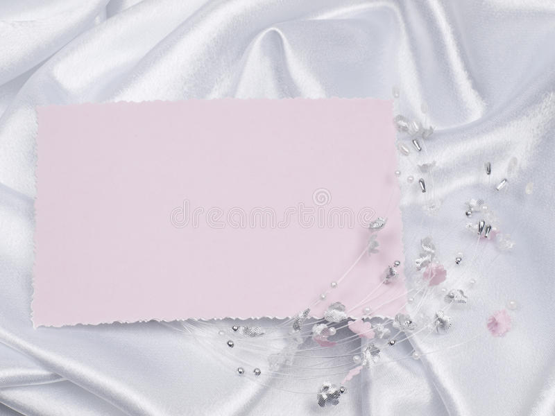 Weddings accessorie on a card royalty free stock photography