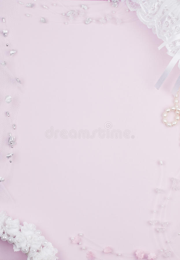 Weddings accessorie on a card royalty free stock image
