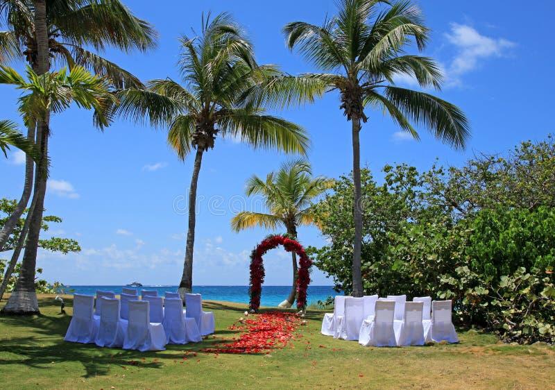 Weddings at Bluebeards Wyndham Resort. In St Thomas U.S. Virgin Islands stock image