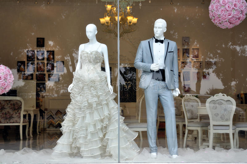 Weddings Dress Store Royalty Free Stock Photos