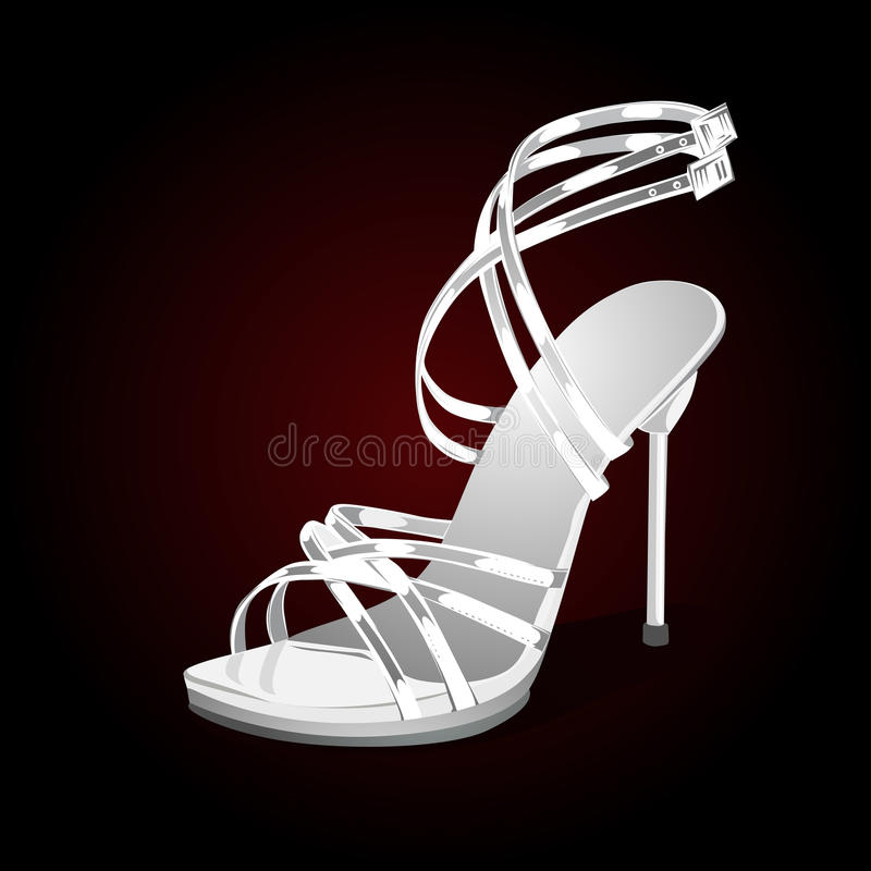 Download Weddings white shoes stock vector. Illustration of object - 26879156