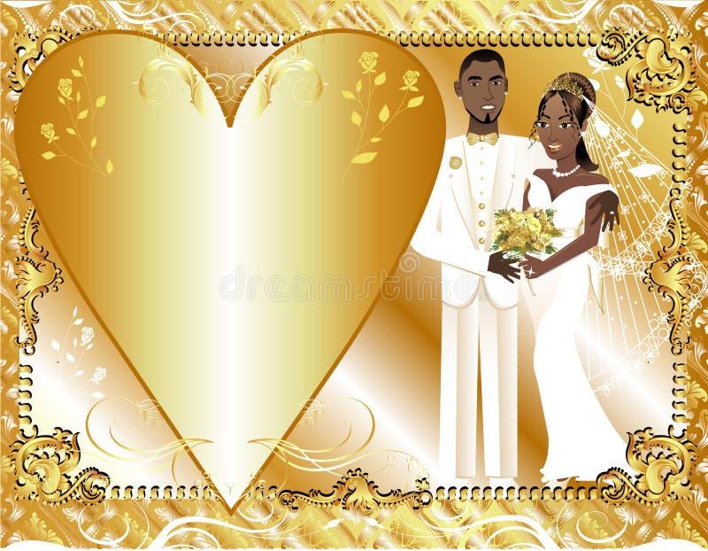 weddingtemplatecouple2 皇族释放例证