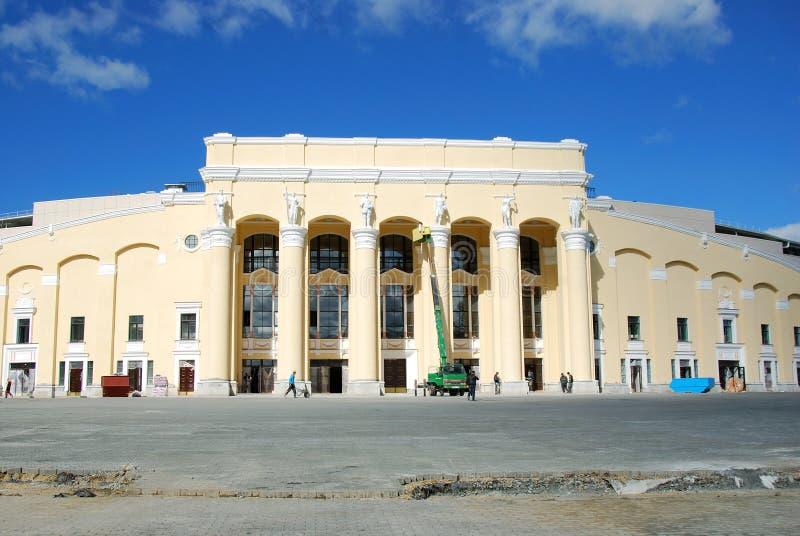 Wederopbouw van Centraal Stadion, Yekaterinburg royalty-vrije stock foto's