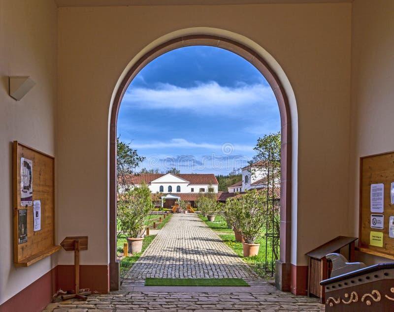 Wederopbouw van de roman Villa Borg royalty-vrije stock foto
