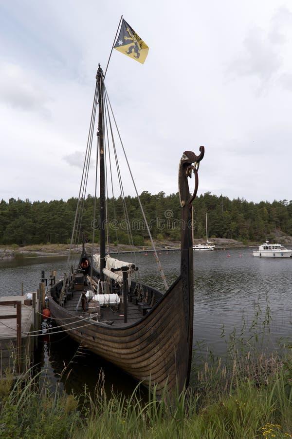 Wederopbouw van het schip Sigrid Storrada van Viking royalty-vrije stock foto