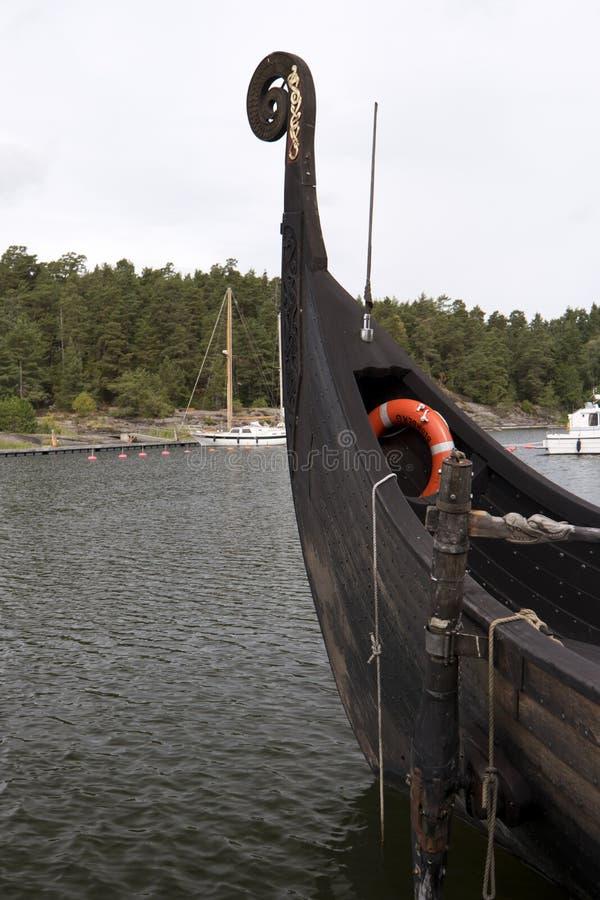 Wederopbouw van het schip Sigrid Storrada van Viking stock foto's