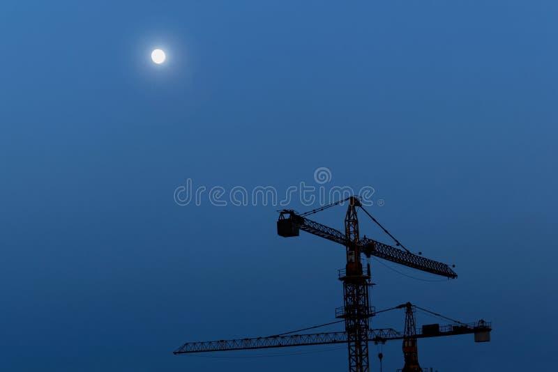 Wederopbouwgebied bij nacht royalty-vrije stock fotografie