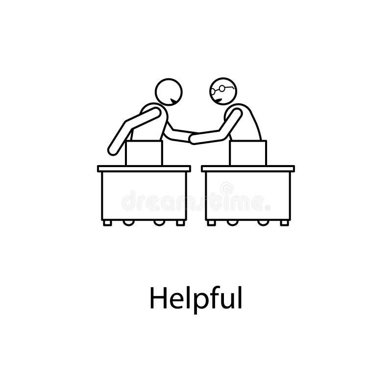 wederzijds begrip met een collegaillustratie Element van verhouding met collega Dun lijn wederzijds begrip met a royalty-vrije illustratie